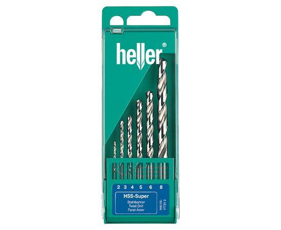 Набор сверл по металлу 6 шт, HSS-Co пластиковая кассета HELLER (17735)