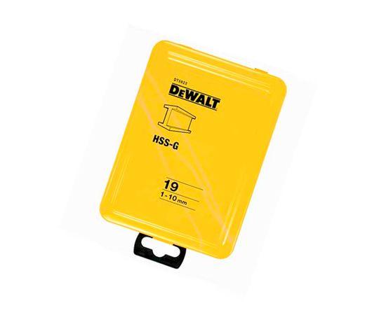 Набор сверл по металлу 19 шт. 1 - 10 мм в металлической кассете HSS-G DeWALT - DT5923, фото 2   SNABZHENIE.com.ua