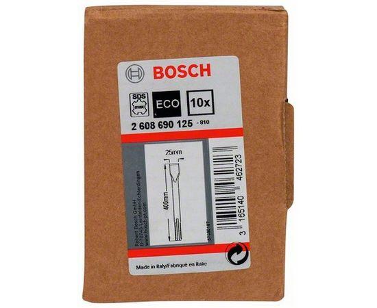 Плоское зубило 25 x 400 мм SDS-max 10 шт. BOSCH - 2608690125, фото 2 | SNABZHENIE.com.ua