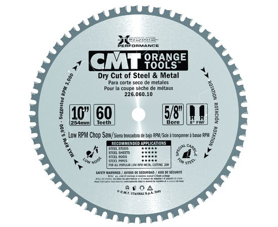 Пила дисковая 160 х 20 мм, Z 30, по стали для продольного и поперечного пиления CMT - 226.030.06H, фото 1 | SNABZHENIE.com.ua