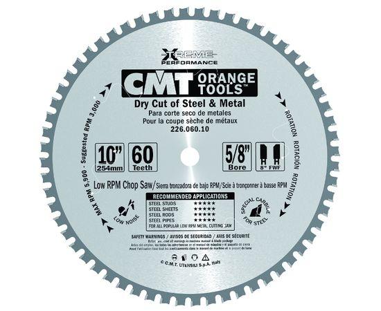 Пила дисковая 254 х 30 мм, Z 60, по стали для продольного и поперечного пиления CMT - 226.060.10M, фото 1 | SNABZHENIE.com.ua
