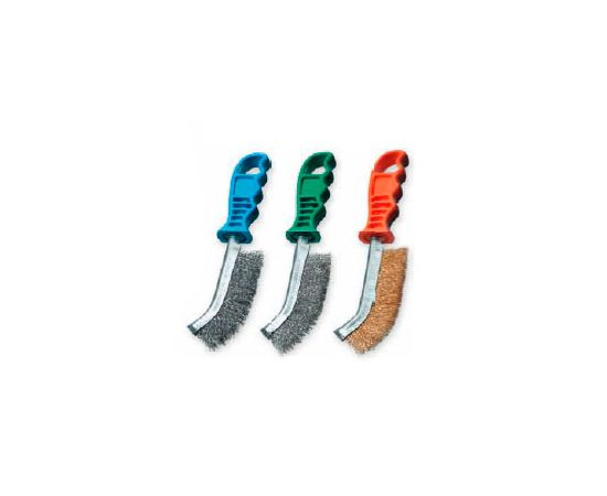 Щетка ручная универсальная 260 х 135 х 28 мм стальной гофрированный провод 0,35 мм пластиковая ручка LESSMANN (056301CB)